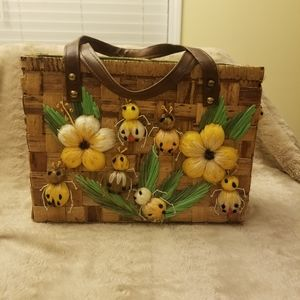 VINTAGE Bags by Patricia Straw Bag